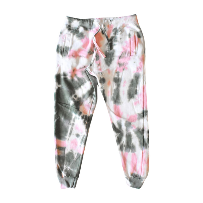 Adult Tie Dye Joggers, Pink & Olive