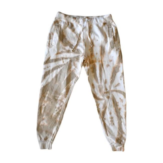 Adult Tie Dye Joggers, Camel - Sweatpants - 1