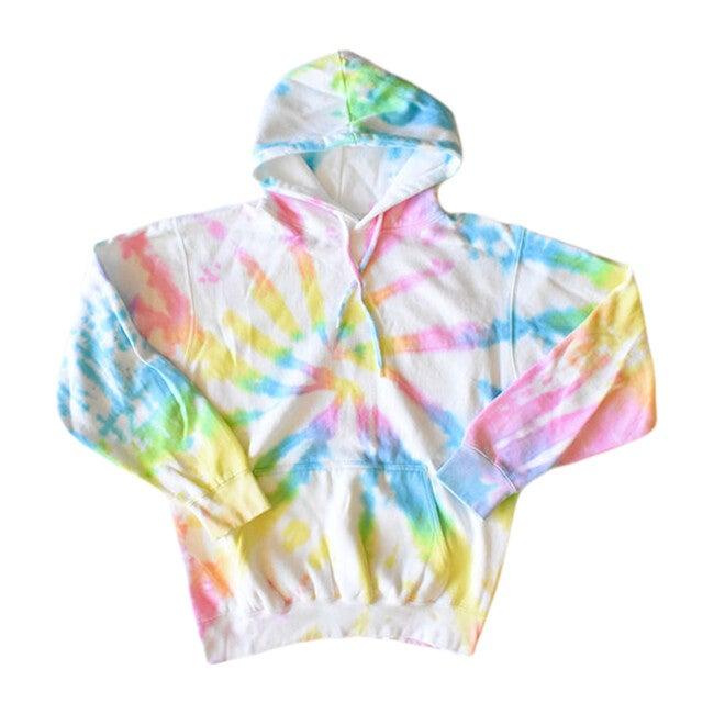 Adult Tie Dye Hoodie, Pastel - Sweatshirts - 1