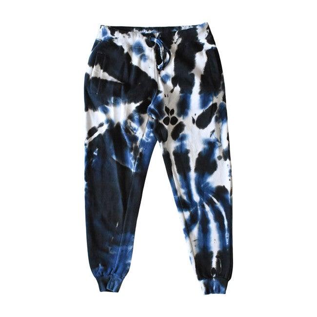Adult Tie Dye Joggers, Black & Navy - Sweatpants - 1