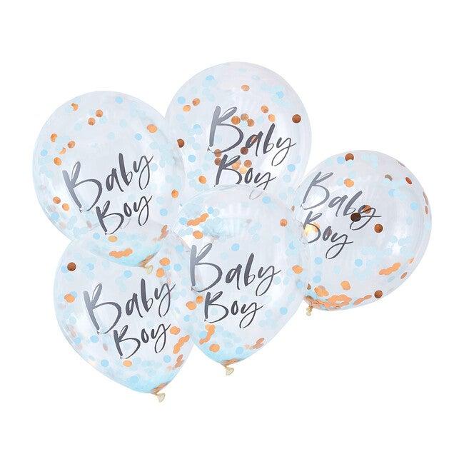 Baby Boy Confetti Balloons, Blue