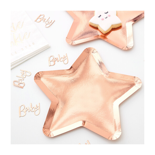 Star Shaped Plates, Rose Gold