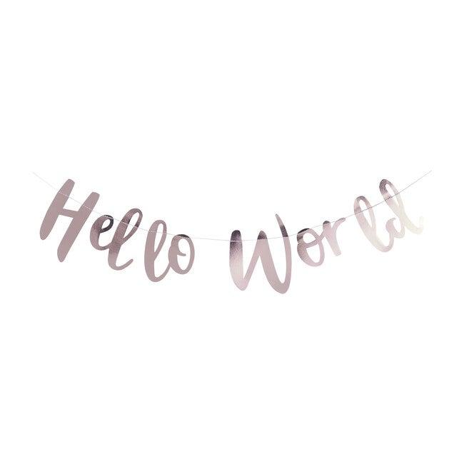 Hello World Bunting, Rose Gold