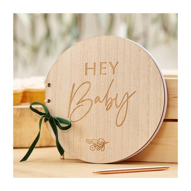 Wooden Hey Baby Guest Book