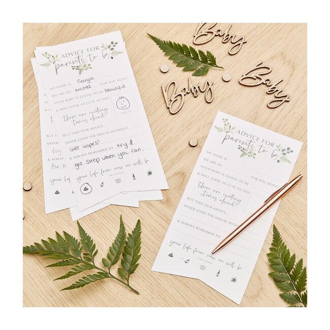 Botanical Baby Shower Advice Cards