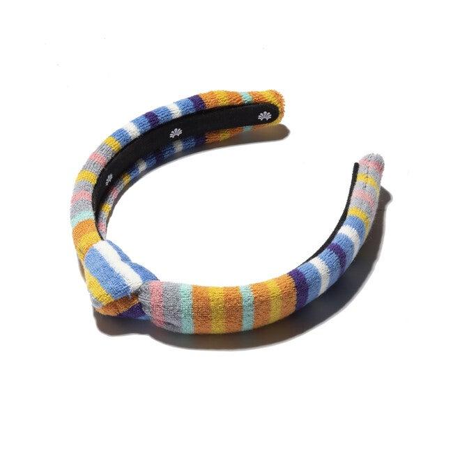 Terry Cloth Kids Knotted Headband, Multi Stripe