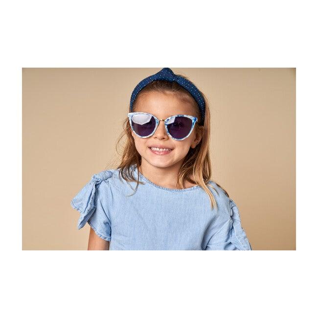 Rainbow Denim Kids Knotted Headband, Multi