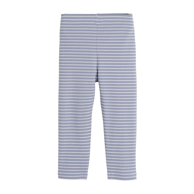 Rita Ribbed Cropped Legging, Dusty Blue & Pale Blue