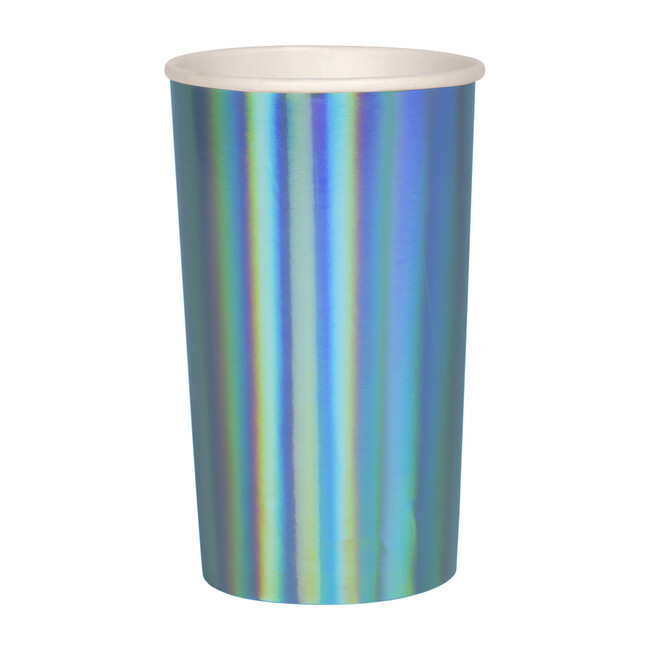 Holographic Blue Highball Cups - Drinkware - 1