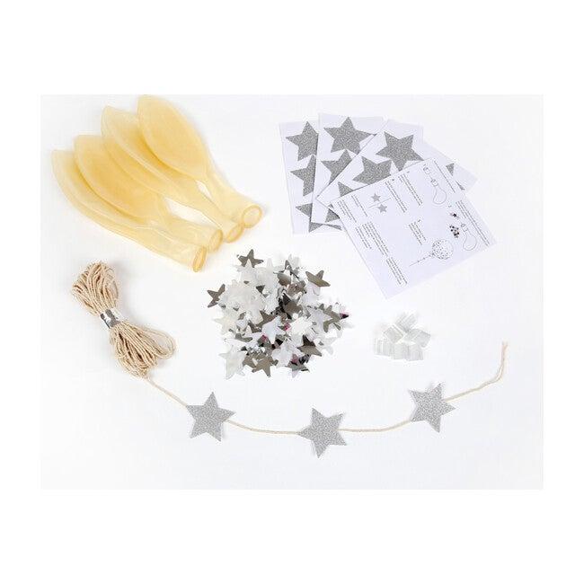 Silver Star Confetti Balloon Kit