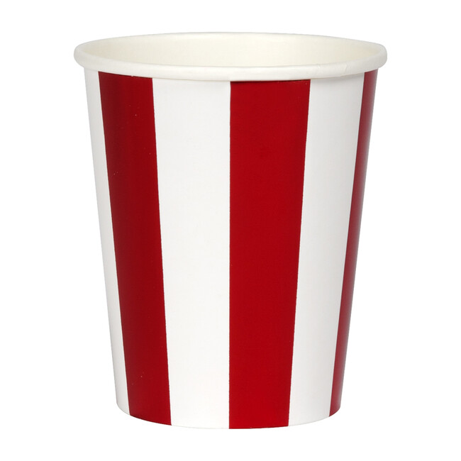 Shiny Red Stripe Cups - Party - 1