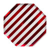 Shiny Red Stripe Dinner Plates - Party - 1 - thumbnail