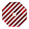 Shiny Red Stripe Dinner Plates - Party - 2