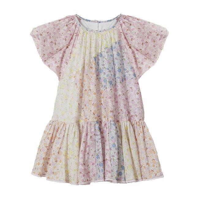 Emma Butterfly Sleeve Mini Dress, Multicolor