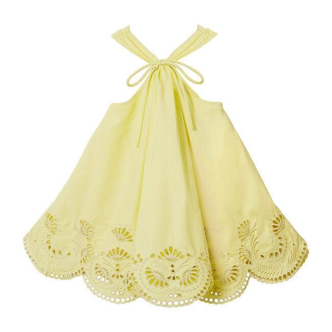 Helene Halter Broderie Mini Dress, Lemonade