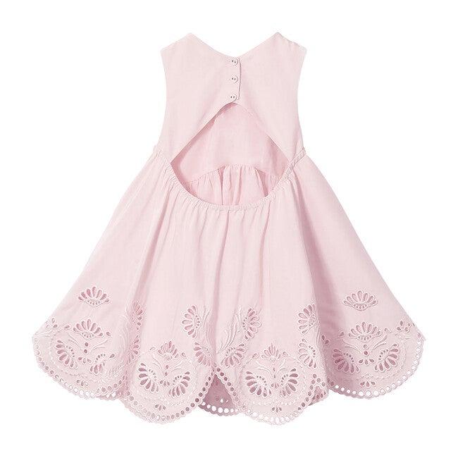 Helene Halter Broderie Mini Dress, Ballet Pink