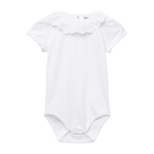 Katie Anglaise Body Short-Sleeved, White
