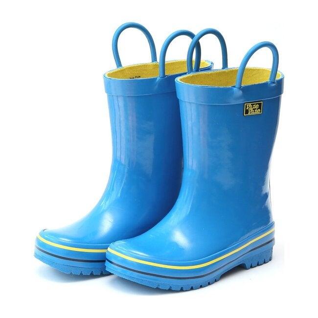 Rain Boots, Solid Blue