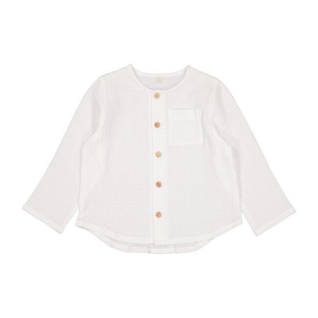 Gaston Long Sleeve Shirt, Milk