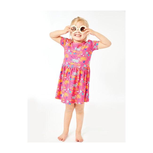 Splatter Dress, Magenta