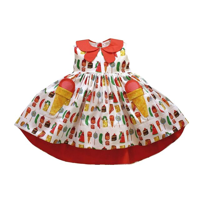 Very Hungry Caterpillar Two Scoops Dress, Party Food Print