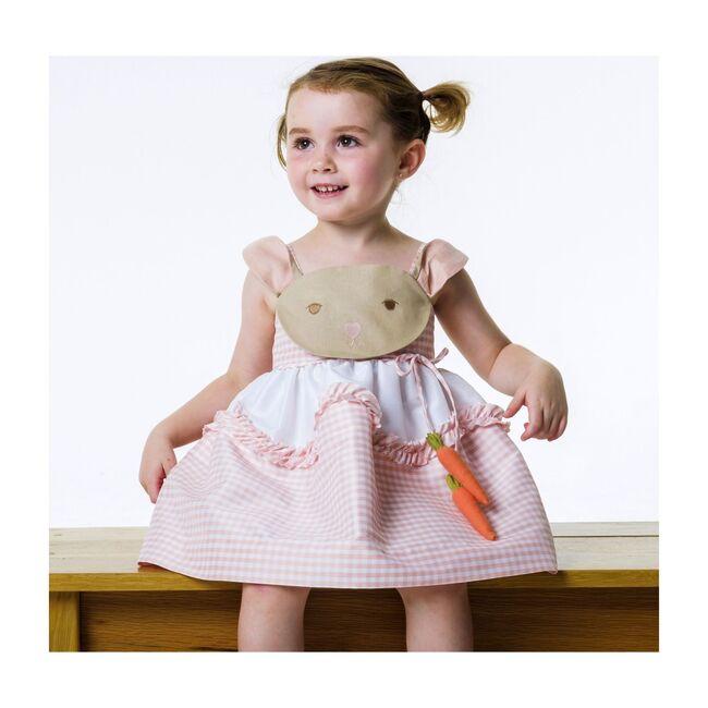 Pink Gingham Bunny Love Dress, Pink