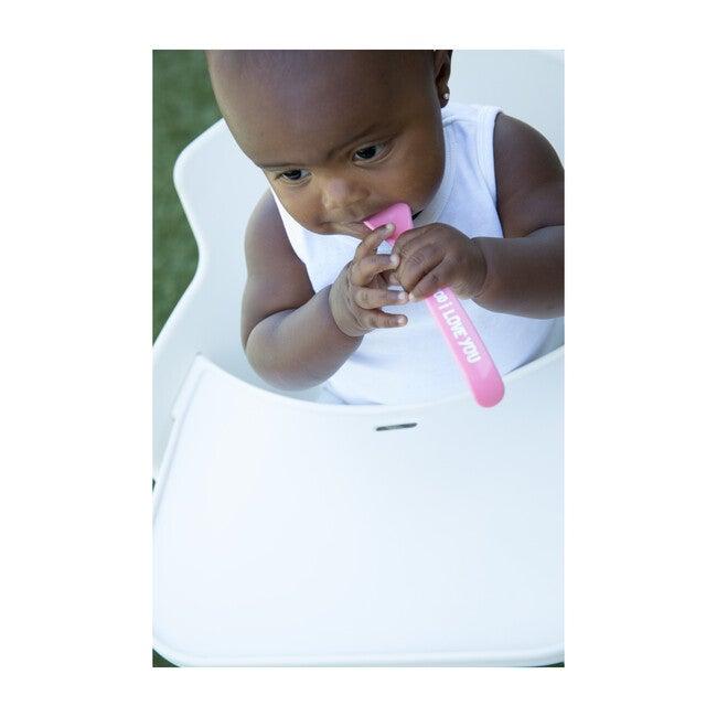 Feed Me Baby Got Snacks Spoon Set, Pink