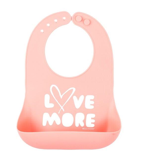 Love More Wonder Bib, Pink