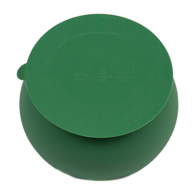 Peas Dont Kale My Vibe Suction Bowl, Green
