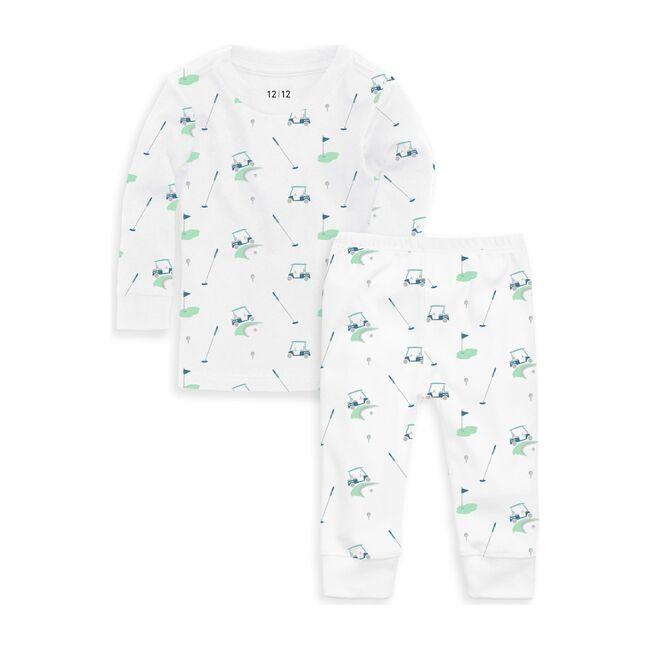 Organic Long Sleeve Pajama Set, Golf Print