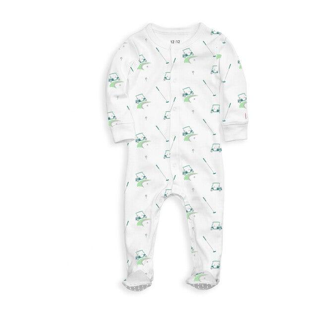 Organic Footed Pajama, Golf Print