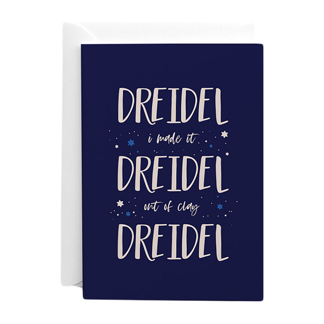 Set of 10 Dreidel Dreidel Dreidel Cards, Blue