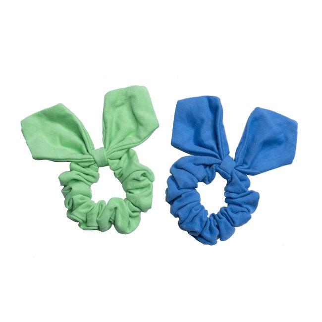 Lola Hairtie Set, Cornflower Blue & Spearmint