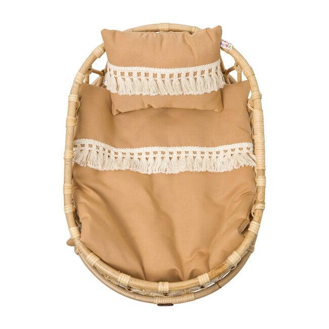 Doll Crib Duvet & Pillow Set, Clay