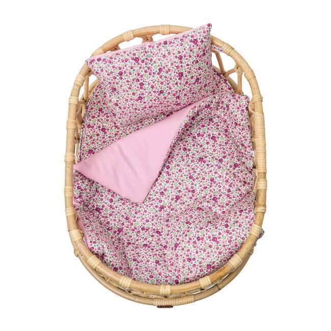 Doll Crib Duvet & Pillow Set, Meadow/Pink