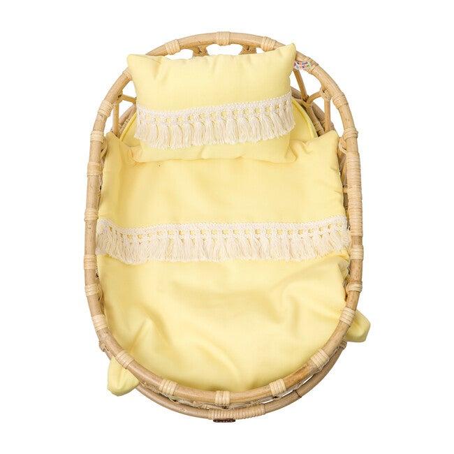 Doll Crib Duvet & Pillow Set, Yellow
