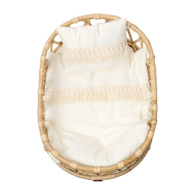 Doll Crib Duvet & Pillow Set, White