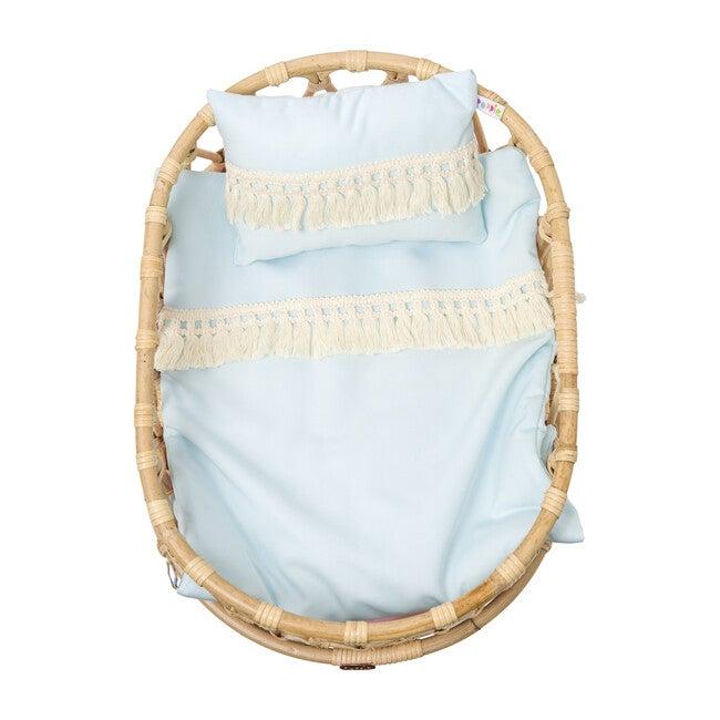 Doll Crib Duvet & Pillow Set, Blue