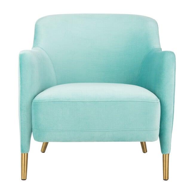 Topaz Velvet Arm Chair, Aqua