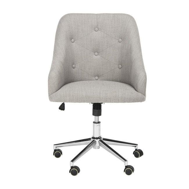 Evelynn Tufted Swivel Chair, Grey