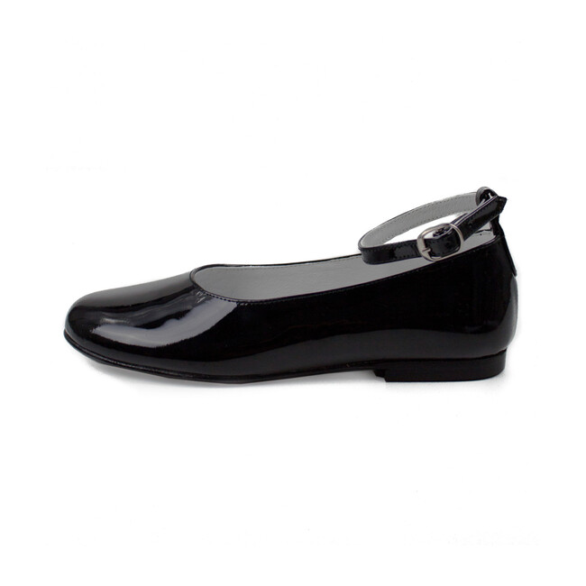 Two Ways Party Shoe, Black Patent Leather