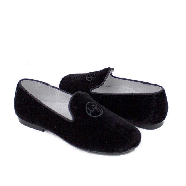 Isabel Garreton Monogram Velvet Loafers