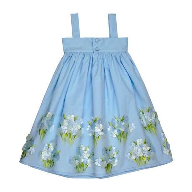 Hydrangea Sundress, Light Blue Cotton