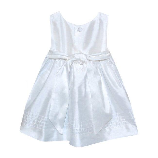 Timeless Baby Dress, White Silk