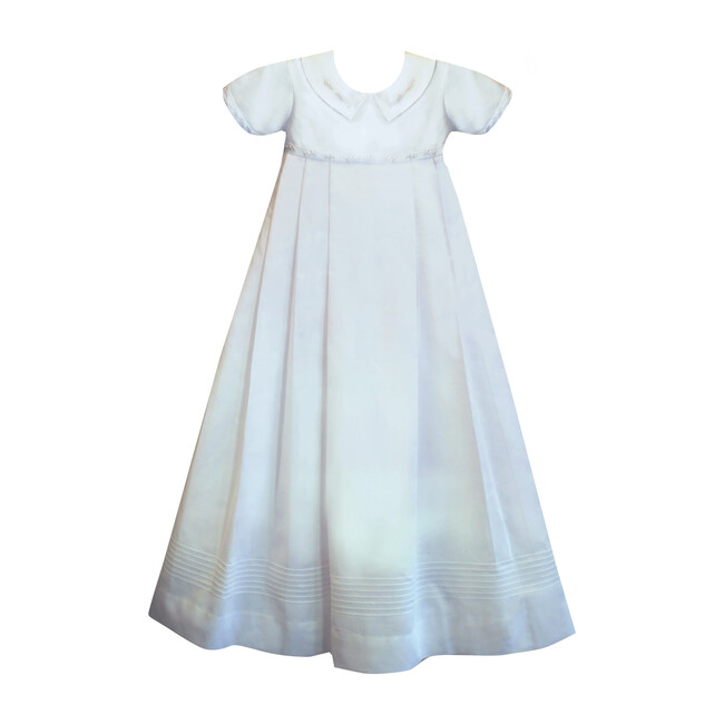 Classic Gown & Bonnet, White Cotton