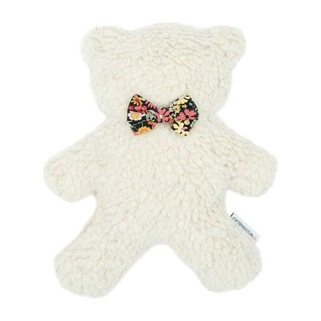 Cream Lavender Bedtime Bear, Black Floral