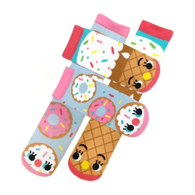 Donut & Ice Cream, Mismatched Socks Set, Kid & Adult Bundle