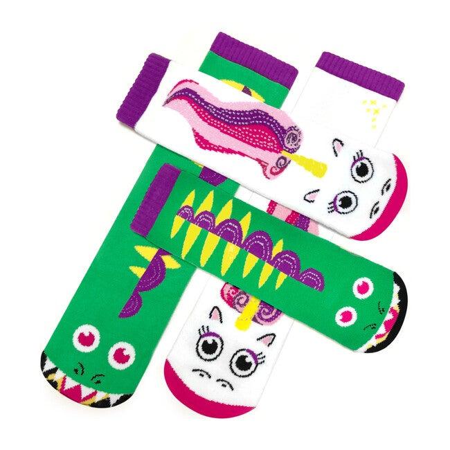 Dragon & Unicorn, Mismatched Socks Set, Kid & Adult Bundle