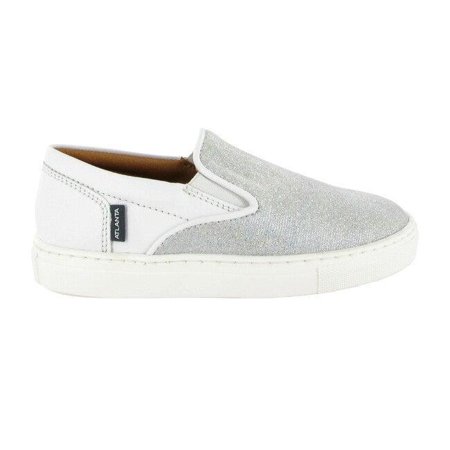 Slip On Sneaker, White Leather