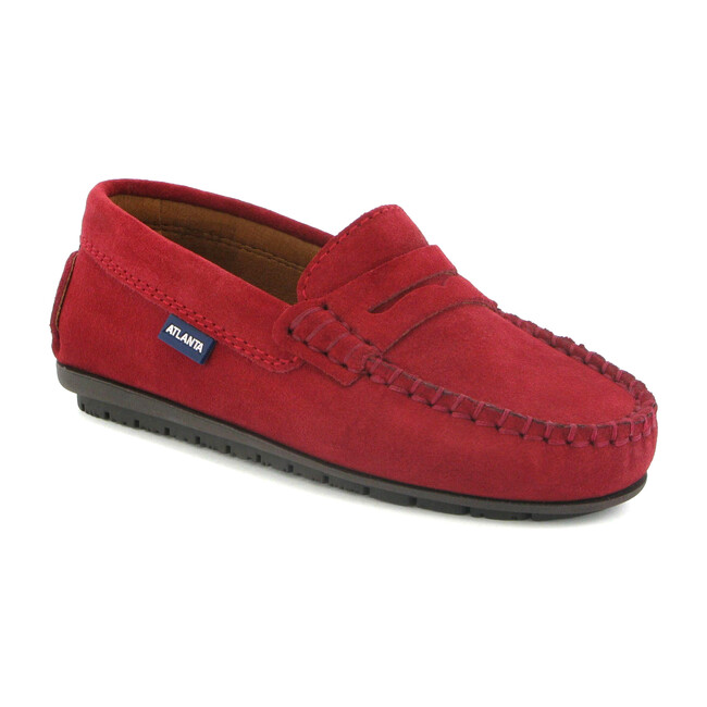 Penny Moccasins in Suede Leather, Red